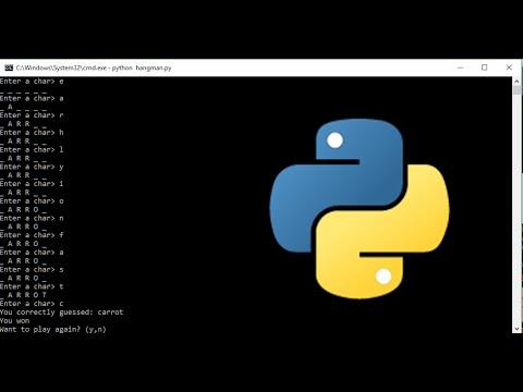 Python #02 - Hangman programmieren mit Python