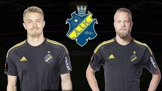 SPELAR FOTBOLL MED AIK:s DANIEL SUNDGREN OCH RASMUS LINDKVIST