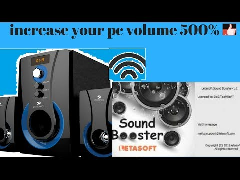 how to increase pc volume 500%
