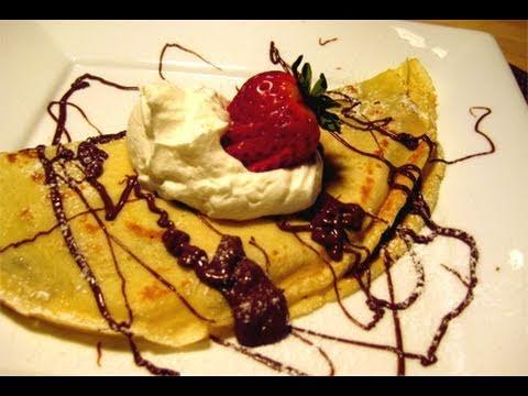 Nutella & Strawberry Filled Crepes Recipe Video - Laura Vitale