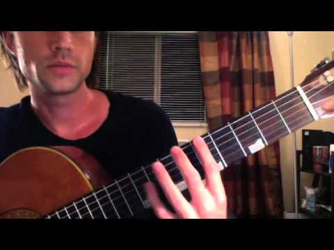 How far can you Stretch? Guitar finger stretch lesson and exercises - By Brett Sanders