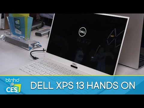 2018 Dell XPS 13 Alpine White & Rose Gold Hands On | CES 2018