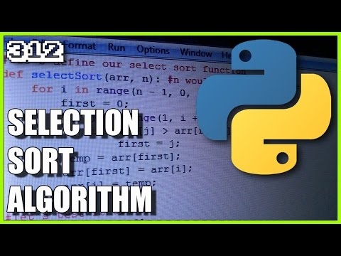Sorting algorithms in Python - Selection sort