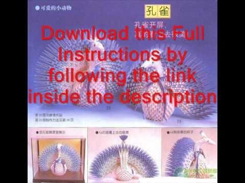 3d origami tutorial peacock