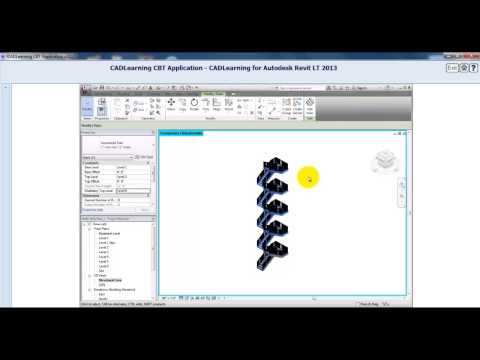 AutoDesk Revit LT 2013 Tutorial: Creating Multi-Story Stairs and Shafts