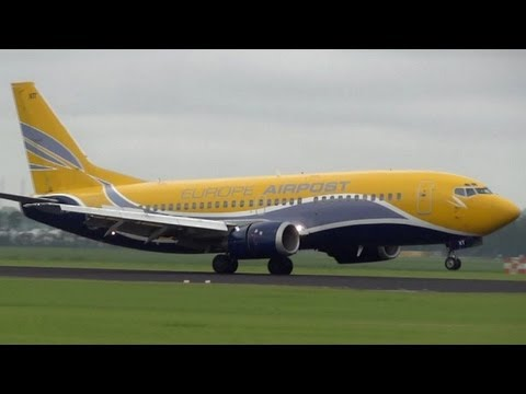 Small freight planes at AMS Schiphol B737 europe airopst EMB-120FC swiftair