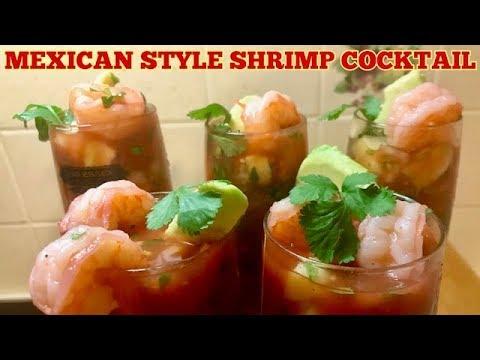 Homemade Mexican Style Shrimp Cocktail - Coctel de Camarones Mexicano