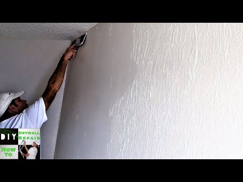 (Part 2) How to skim coat trick with a paint roller and joint compound