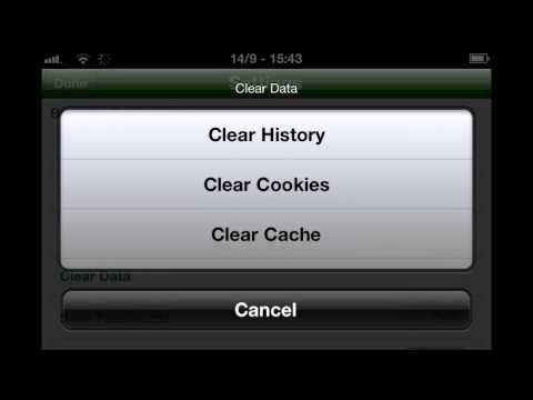 How to delete cookies on iPhone Browsers