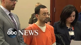 Former US Gymnastics doctor Larry Nassar faces at least 25 years in prison