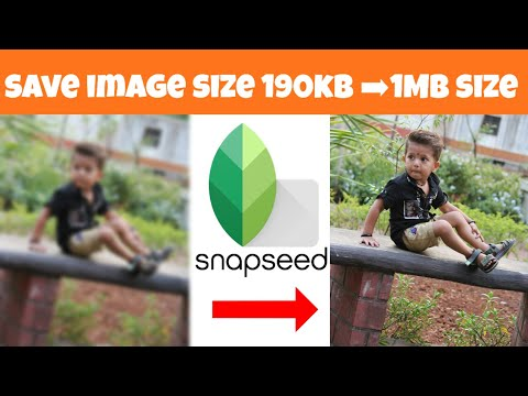 How To save image High resolution Photo quality |snapseed | snapseed Tutorial