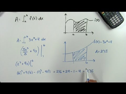 How to Find the Area of a Shaded Region Under a Curve : Math Problems & Trigonometry