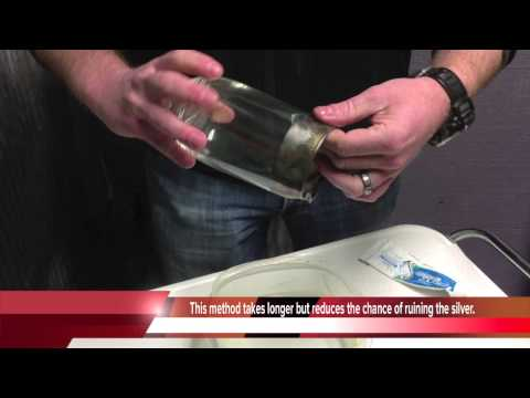 How to safely clean Dorothy Thorpe silver band glassware sterling silver items.