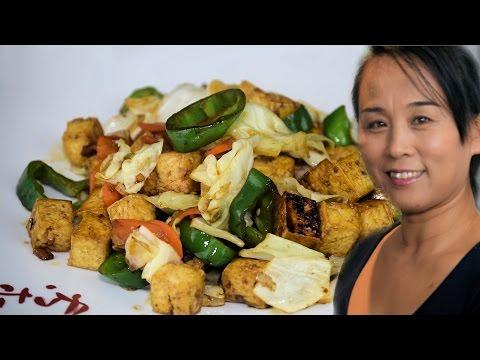 Chinese Stir Fry Tofu & Vegetables Recipe (Chinese Vegetarian Recipe)