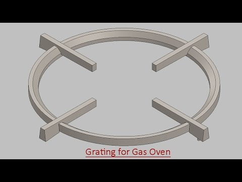Grating for Gas Oven (Video Tutorial) SolidWorks