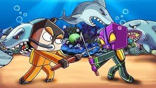 Minecraft | UNDERWATER MODDED HUNGER GAMES - 3 Team Challenge! (Swimming, Sharks, Shipwrecks)