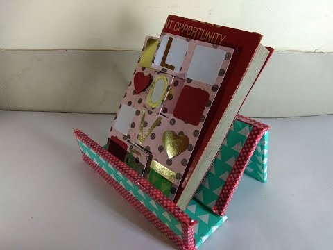 Table organizer from Cardboard / DIY Desk Organizer / How to make Book Stand / Multipurpose stand