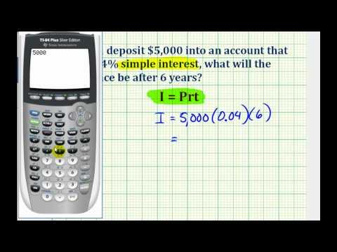 Ex: Determine an Account Balance Using Simple Interest