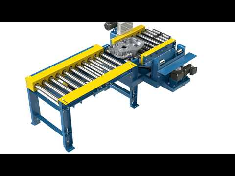 LEWCO Chrome Plated Roller Conveyor