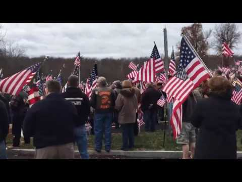 Hampshire College Hundreds of Flags Waving in Silent Protest