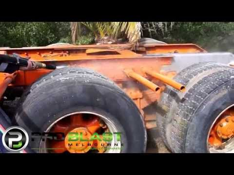 ProBlast Melbourne - Removing epoxy paint from truck chassis