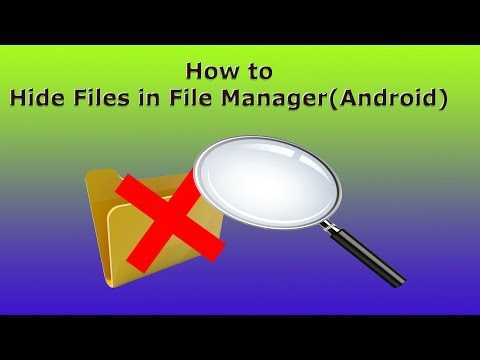 How to hide files in Android File Manager(Without any App)