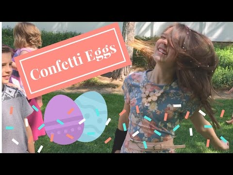 Confetti Eggs with Ruby Jay's Family!!