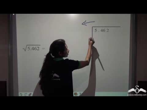 Square roots of decimals using division method