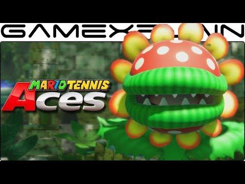 Petey Piranha Boss Fight in Mario Tennis Aces (Nintendo Switch Gameplay)