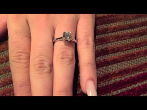 1 carat round  high quality cubic zirconia engagement ring  -8451