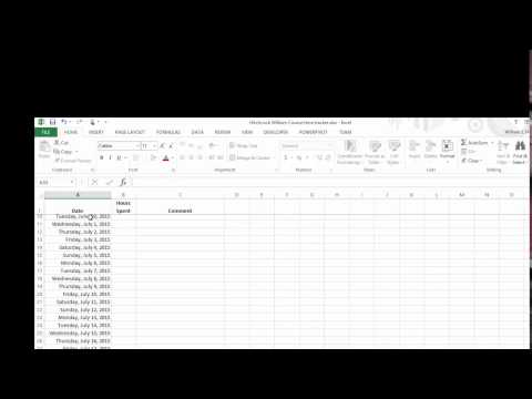 Excel time tracker