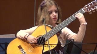 Amazing 7-Year-Old girl Guitarist - Konstantina Andritsou performs @ Megaro (Athens) HD