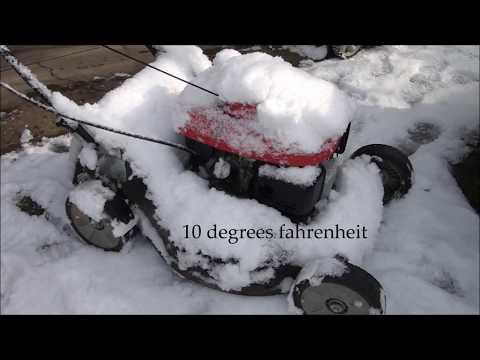 Will it START in 10 degree weather? - Honda Lawnmower HRT216 Harmony 2. GCV160 Engine