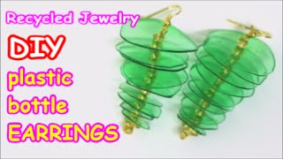 DIY Earrings: Recycled Jewelry Ideas from Plastic Bottle - Recycled Bottles Crafts