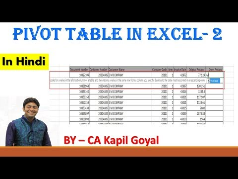 Pivot Table Advance | Excel Tutorial | Excel Formulas | Excel in Hindi
