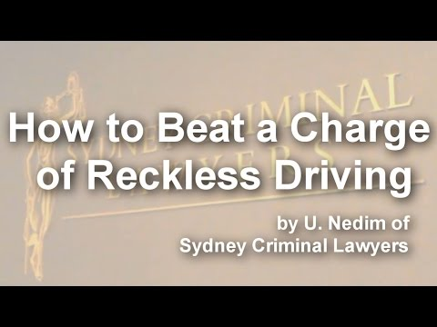 How to Beat a Charge of Reckless Driving