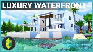 $300,000 Luxury WATERFRONT Home | The Sims 4 House Building