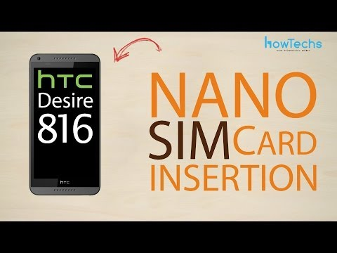 HTC Desire 816 dual sim - How to change the SIM card