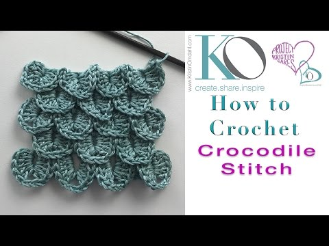 How to Crochet the Crocodile Stitch LEFT HAND with sport weight yarn Be So Sporty