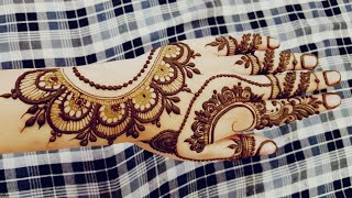 Latest Back Hand Mehndi Design 2018