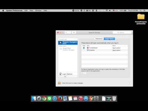 How To Change Startup Programs Mac OS X 10.10 Yosemite