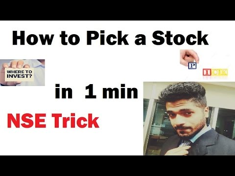 Pick a Stock in 1 min for Short Term Profit Trick by Smart Trader