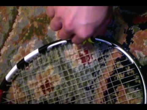 Cutting my tennis strings and replacing them with hybrids