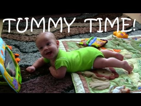 BABY CRAWLING AT 18 weeks old!!! - TUMMY TIME TIPS