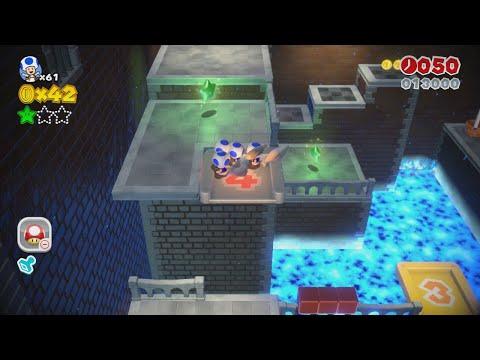 Super Mario 3D World: 5-3 Backstreet Bustle (100 % All Stars & Stamp) [Gameplay Walkthrough]