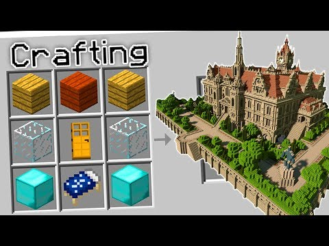 CRAFTING A MANSION IN MINECRAFT?!