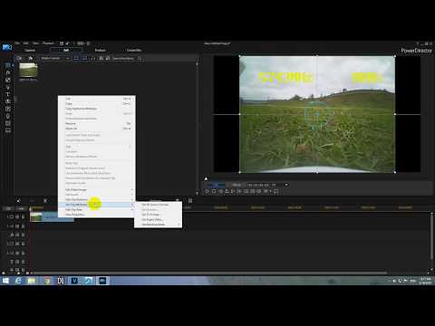 How to modify Aspect Ratio of videos in PowerDirector (4:3 to 16:9)
