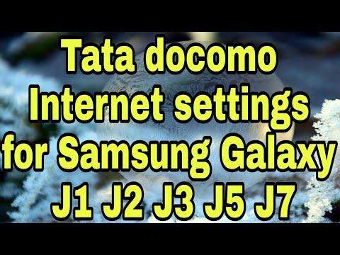 Tata Docomo 2G 3G 4G LTE APN Internet settings for Samsung Galaxy J1/J2/J3/J5/J6/J7