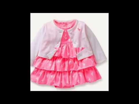 2-Piece Dress & Cardigan Baby Girl Onesies Set