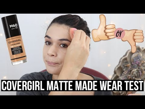 COVERGIRL MATTE MADE FOUNDATION REVIEW & WEAR TEST